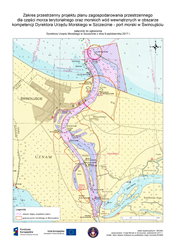 Mapa portu w  Świnoujściu