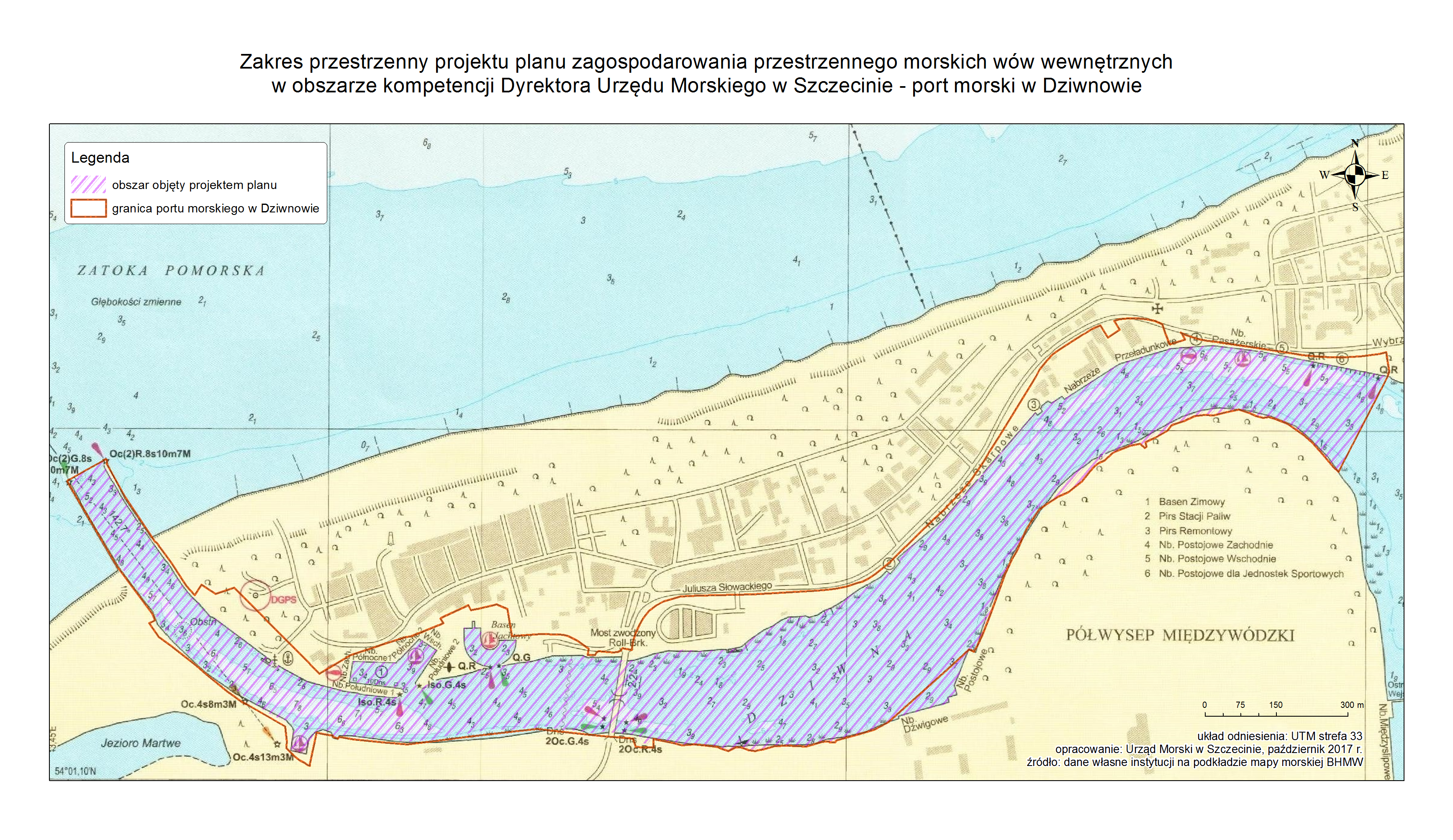 Mapa portu w Dziwnowie