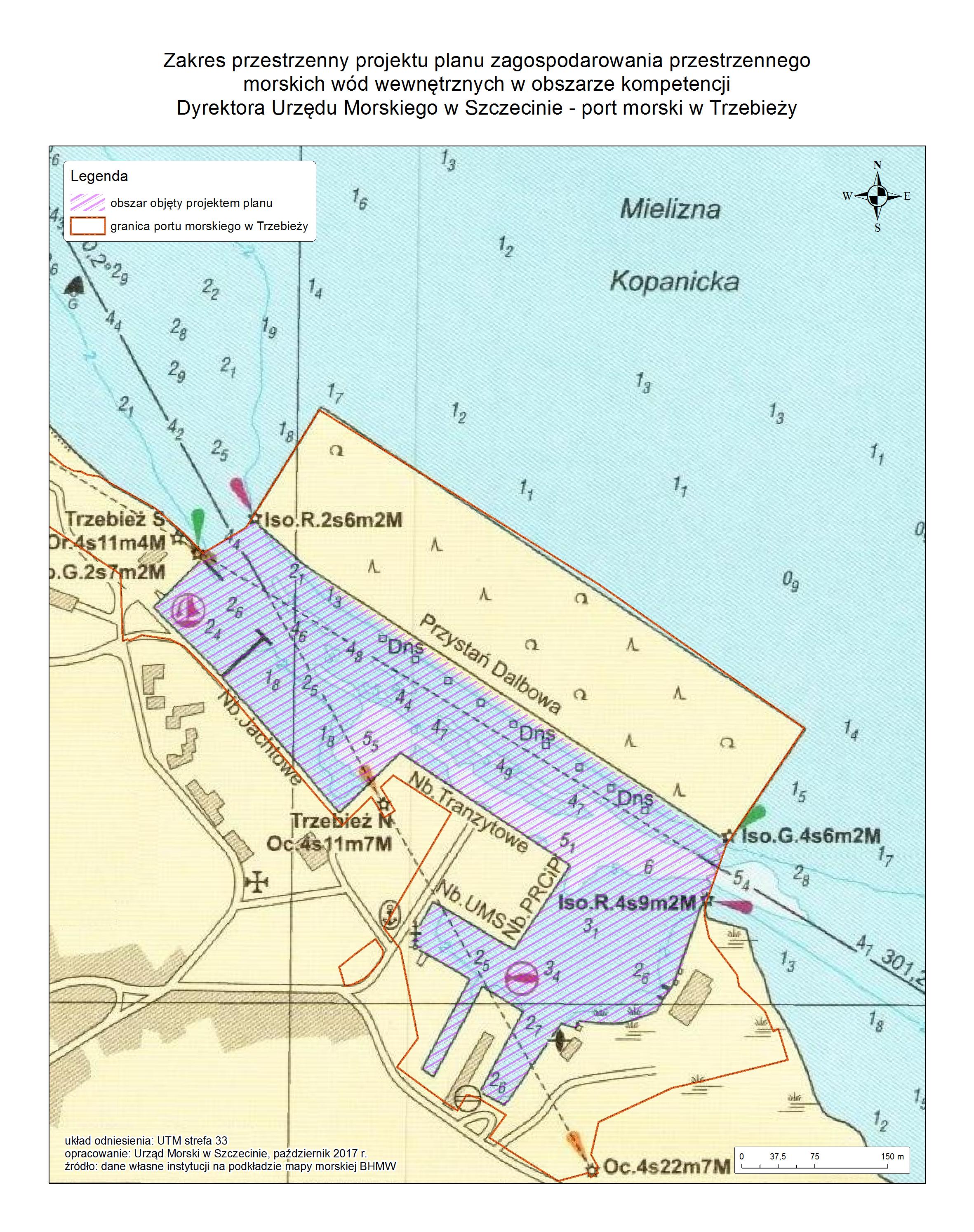 Mapa portu w Trzebieży