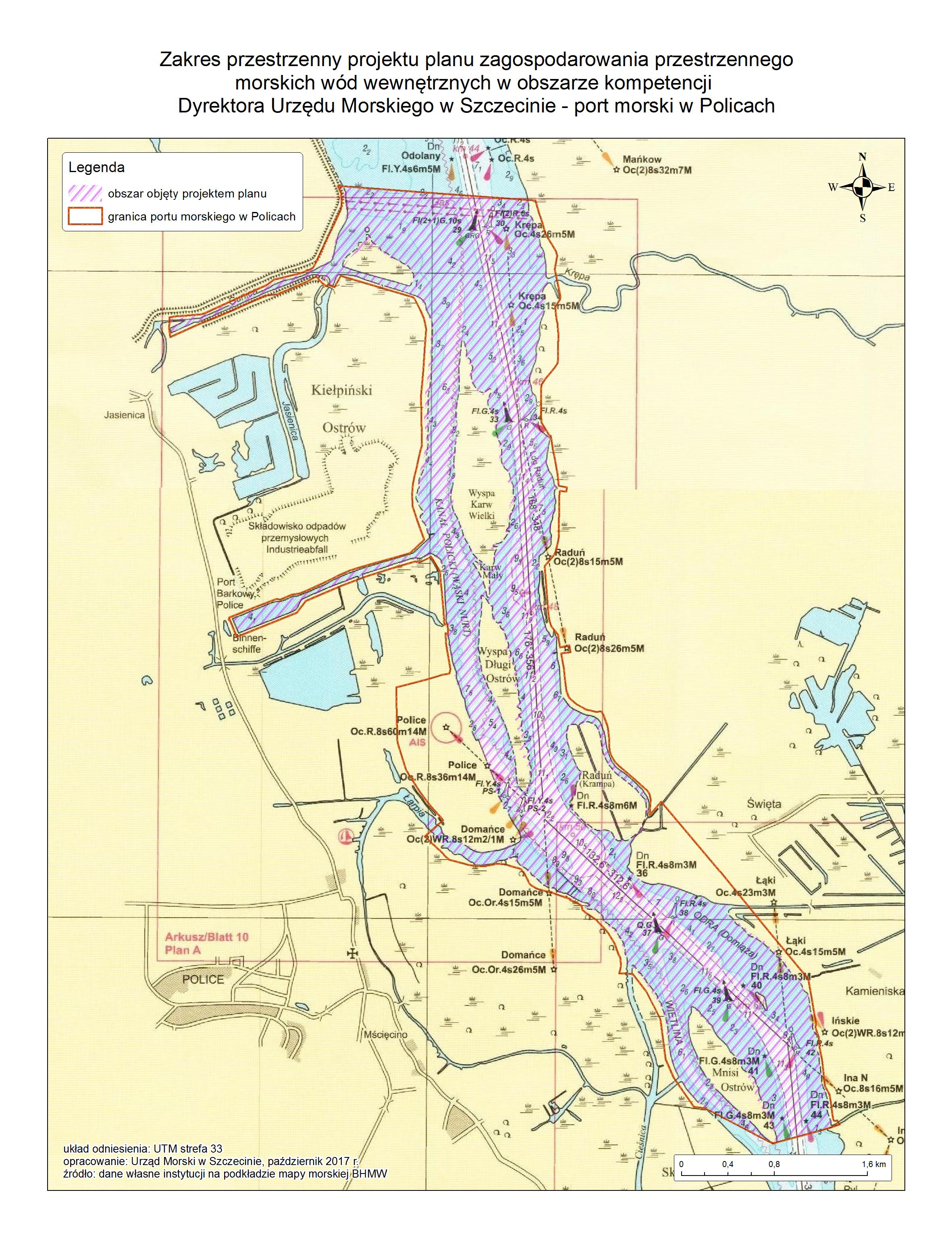 Mapa portu w Policach