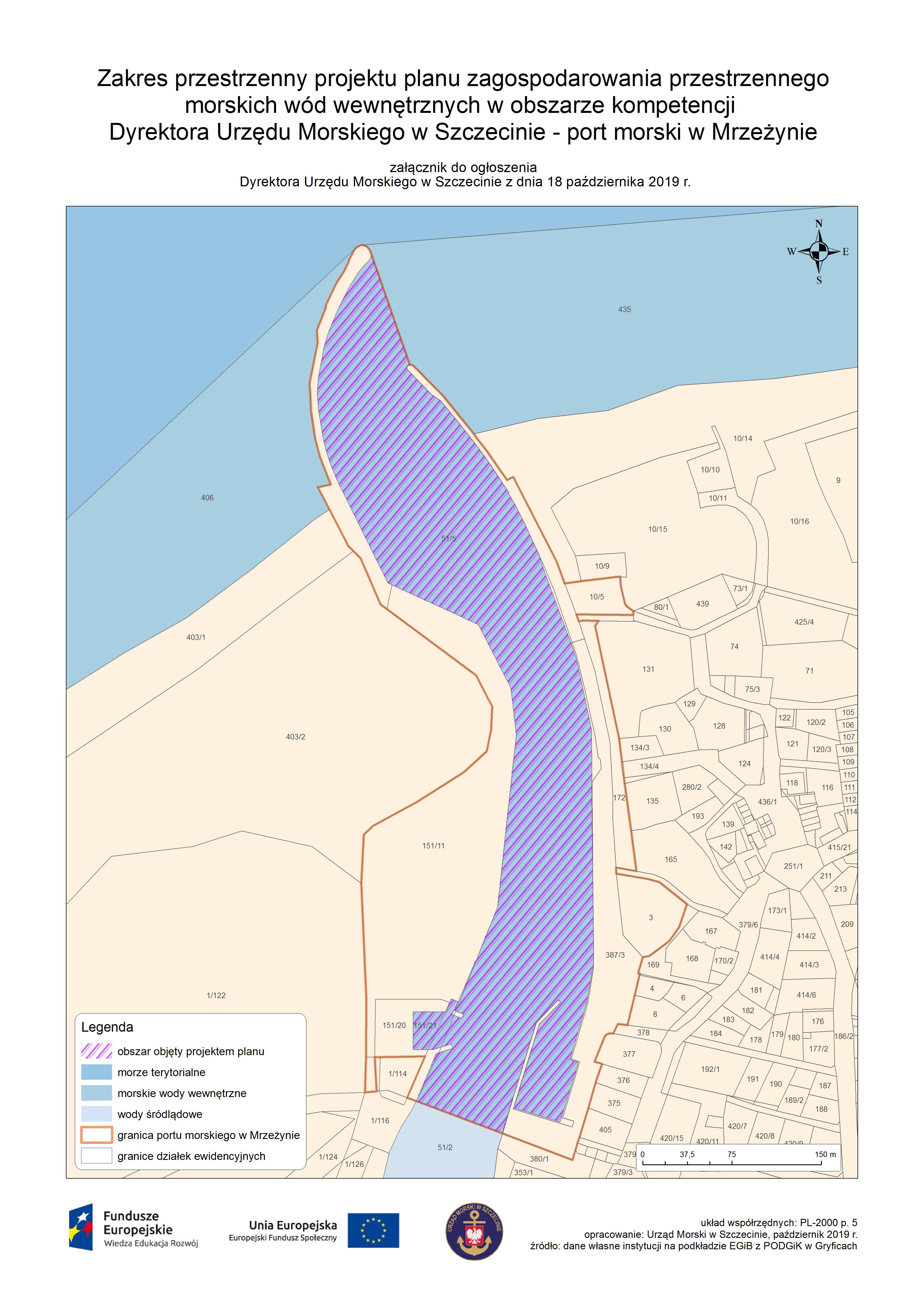 Mapa obrazująca obszar projektu planu